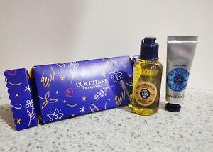 L'Occitane Christmas Shea Butter Hand Cream And Body Shower Oil Cracker Gift Set