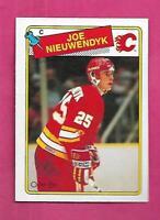 1988-89 OPC # 16 FLAMES JOE NIEUWENDYK NRMT-MT CARD  (INV# D6122)