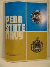 Beaver Stadium football program: Sept 1972; Penn State vs Navy