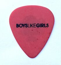 Boys Like Girls Guitar Pick. 2012 Tour Red Pick.