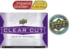 19-20 UD CLEARCUT HOCKEY FACTORY SEALED HOBBY BOX PRE-SELL *CANADA SHIP ONLY*
