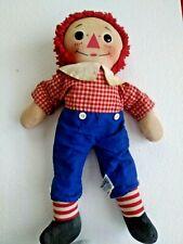"Vintage Knickerbocker 16"" Raggedy Andy Wind Up Doll  Plays London Bridge 1946-65"