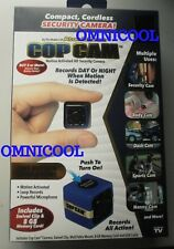 COP CAM Security Camera, MOTION ACTIVATED Video and Audio REC, Rechargeable, 8GB