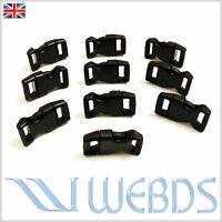 "SIDE RELEASE BUCKLES 15mm 5/8"" WEBBING PLASTIC CURVED FASTENER BUCKLES NEW"