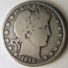1912 UNITED STATES HALF DOLLAR - Excellent High Quality Silver Coin - Lot #D4