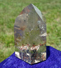CITRINE Quartz PHANTOM Crystal Point Ultra Clear Red Green Chlorite Inclusions