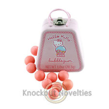 Hello Kitty Bubblegum Tin Container Hard Candies Pink Balls Purse Shaped Gum