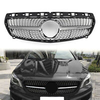 Diamond star grille grill For Mercedes Benz R117 W117 CLA250 2013-2015 Silver US