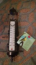 Conant BRONZE Patina Bird Feeder Thermometer BFT27BP, 21.25 L,1.5 LB- NEW IN BOX