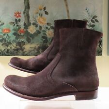 NWB WOMENS AUTH PAUL SMITH YORK NICOBAR MORO  BROWN SUEDE ANKLE ZIP BOOTS 40/10