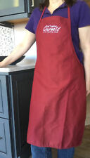 """Cooking Apron/ Bib Apron Embroidered """"Get Together Gourmets"""" Maroon/ Burgundy"""