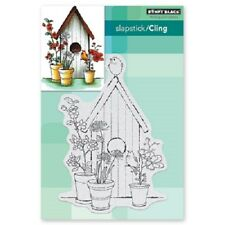 PENNY BLACK RUBBER STAMPS SLAPSTICK CLING AVIARY NEW cling STAMP