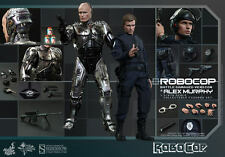 "Hot Toys ROBOCOP BATTLE DAMAGED & ALEX MURPHY 12"" Figure Set 1/6 Scale MMS266"