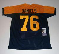 PACKERS Mike Daniels signed navy custom jersey w/ #76 JSA COA AUTO Autographed