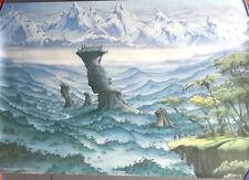 "Vintage Rodney Matthews- STRONGHOLD  Fantasy POSTER  27""x35""  Rolled (ART-01)"