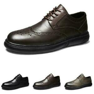 Men Oxfords Work Office Lace up Breathable Faux Leather Business Leisure Shoes s