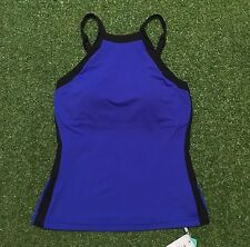 New Seafolly Block Party High Neck Singlet In Blue Ray - Size AU8 / US4