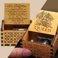 Wooden Music Box Mom/Dad To Daughter -You Are My Sunshine Engraved Toy Kid Gifts