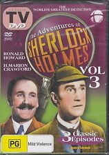 THE ADVENTURES OF SHERLOCK HOLMES VOL 3 - DVD - 3 CLASSIC EPISODES NEW