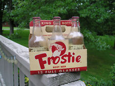 1950'S 6 Pack of Frostie Old Fashion Root Beer 12 oz bottles Baltimore MD