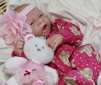 AWW! SWEET BABY GIRL! Berenguer Life Like Reborn Preemie Pacifier Doll +Extras
