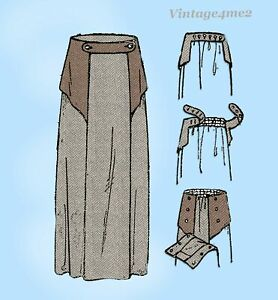 Ladies Home Journal 2958: 1920s FF Maternity Skirt 26 W Vintage Sewing Pattern