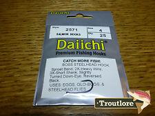 25 x DAIICHI 2571 #4 BOSS STEELHEAD & SALMON HOOKS for WET FLIES NEW FLY TYING