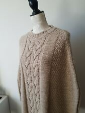 Henry Cottons Jumper Poncho Beige 100% Wool S