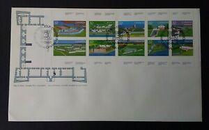 Canada 1983 SG1090/9 Canada Day - Forts (1st Series) Sheetlet of 10 FDC
