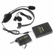 VHF Stage Wireless Lavalier Lapel Headset Microphone System FM Transmitter YK