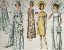 1960 Simplicity 6352 WEDDING DRESS EMPIRE WAIST BRIDAL Sewing Pattern Women