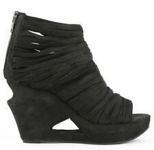 """LD Tuttle """"The Float"""" Black Leather Strap Booties Size 36.5/6.5"""