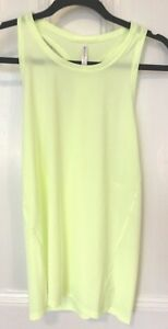 Athlete Ultimate Tank Racer Back New With Tags Neon Yellow Large L