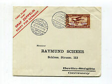 Egypt 1931 Graf Zeppelin Flown Cover PORT SAID - 100m Zep Stamp Sieger 105Cy