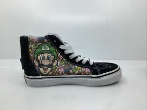 Vans Off The Wall Mario Kids 3 High Top Tennis Shoe With Heel Zipper Game Over