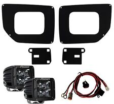 RIGID Fog Light Kit Midnight Black PRO LED Lights for 15-19 GMC Sierra 2500 3500