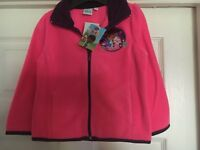 Girls Doc McStuffins pink fleece top jumper sweater zip cardigan NEW Age  6