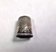 Antique/Vintage Sterling Silver Shield Simons (no monogram) Thimble Size 11