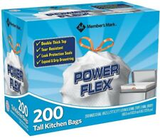 Kitchen Trash Can Liners Tall Garbage Bags 13 Gal Drawstring 200 Ct Tear Resist