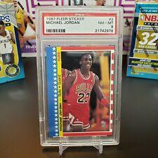 1987 Fleer Sticker Michael Jordan #2 PSA 8 NM-MT