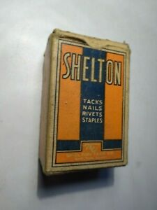 Shelton blue sterilized tacks clinching nails Connecticut CT advertising box