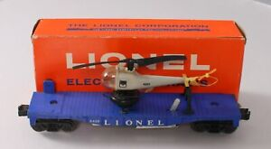 Lionel 3419 Vintage O Operating Flatcar w/Helicopter - Type III/Box