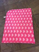 Girls Super Soft  Pink Heart Pattern Blanket