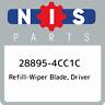 28895-4CC1C Nissan Refill-wiper blade, driver 288954CC1C, New Genuine OEM Part