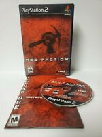 Red Faction (PS2, Playstation 2)  Complete w/Manual