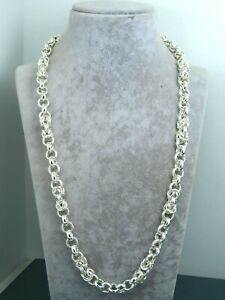 Turkish Handmade Jewelry 925 Sterling Silver Chain Design Men Necklace