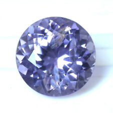 Natural Blue Sapphire 6.5 mm Diamond Cut Round 1.28 Cts Heated Gemstone Ceylon