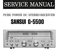 SANSUI G-5000, G-5500 Schematic Service Manual Repair Schaltplan Schematique