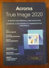 ACRONIS TRUE IMAGE 2020 - 3 PC/Mac New Sealed Retail Box. Ships Free 3 Day !!