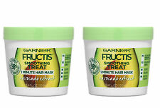 2 Packs Garnier Fructis Smoothing Treat 1 Minute Hair Mask Avocado Extract